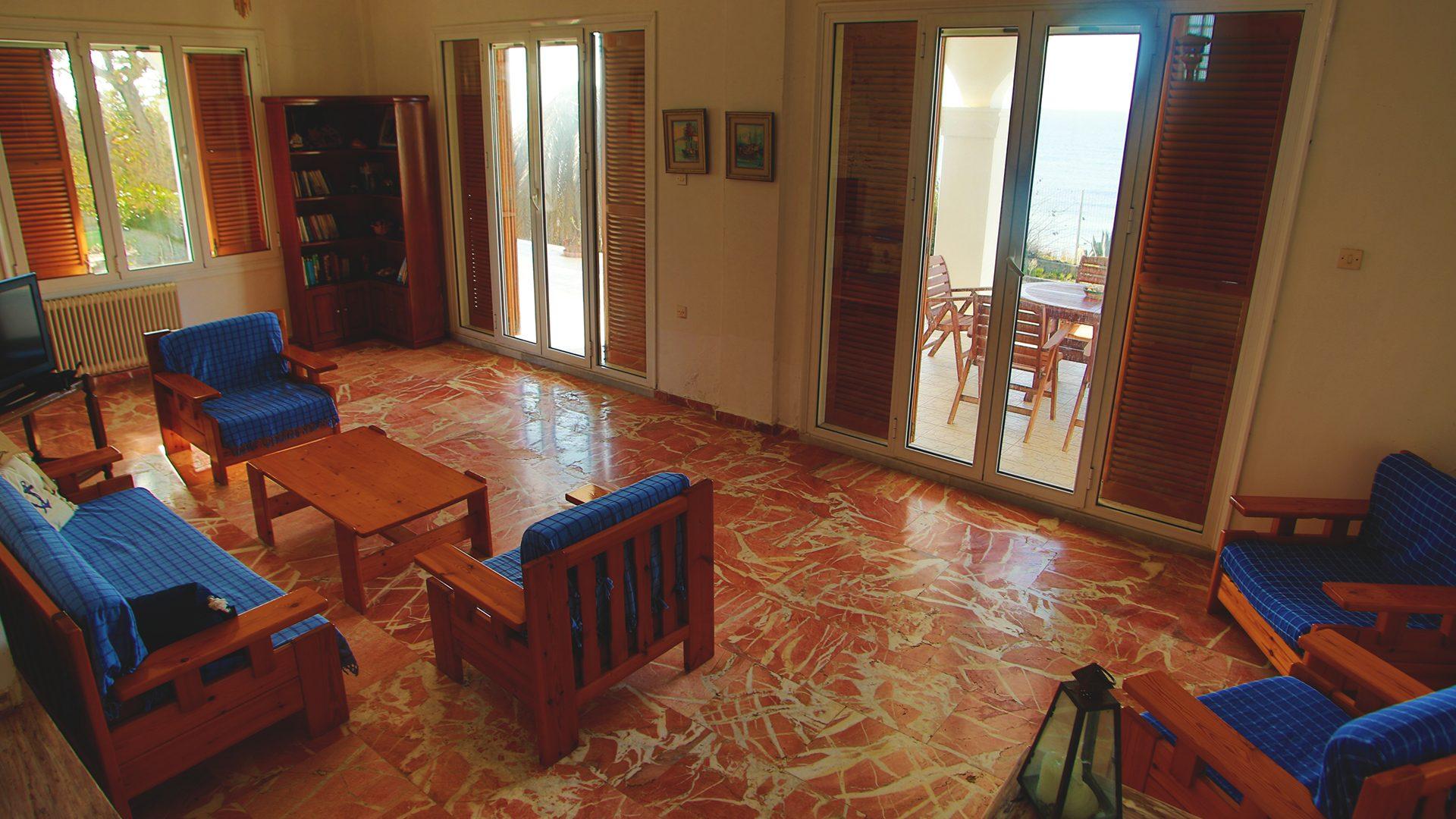 living room villa moby dick